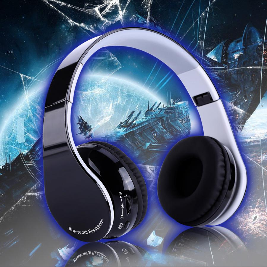 Foldable Bluetooth4.1 Wireless Gaming Headset Headphone Hifi Stereo headphone for PS4 console
