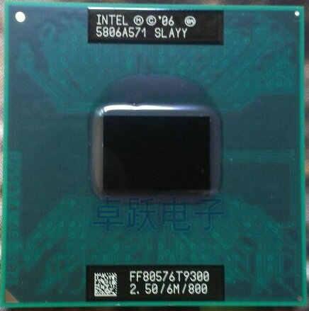 CPU intel original para ordenador portátil Core 2 Duo T9300 CPU 6M Cache/2,5 GHz/800/Dual-Core Socket 479, procesador de ordenador portátil para GM45 PM45
