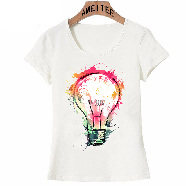 New fashion art women T shirt Splash Ideas t shirt Novelty design ...