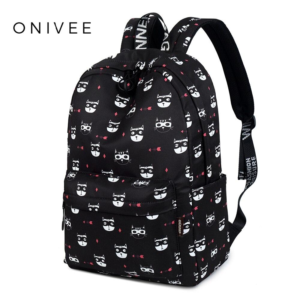 ONIVEE Fashion School Backpacks For Teenager Girls Women Laptop Back Pack Cute Travel Bags Girls Backpack #A9157 mini backpacks women laser cute plush kawaii unicorn bagpacks pu leather hologram teenager girls school bags back pack mochila