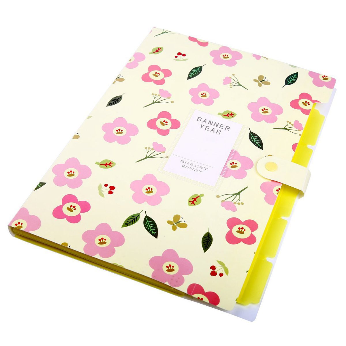 Affordable Yellow Floral Printed PVC Accordion Document File Folder Expanding 5 Layers Letter Organizer For Office and School skydue floral printed accordion document file folder expanding letter organizer blue