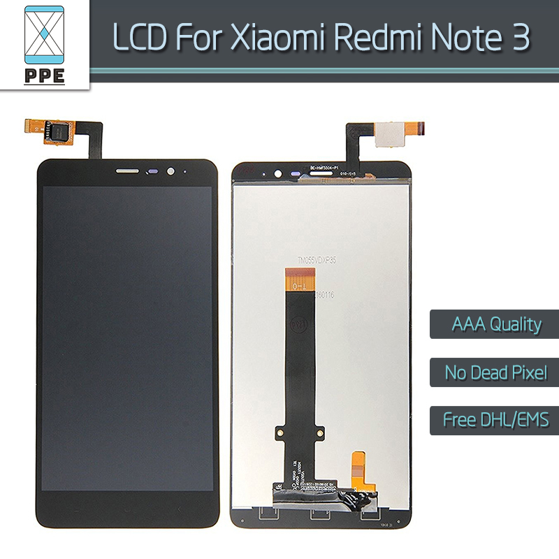 "10pcs/lot for Xiaomi Redmi Note 3 Original LCD Hongmi Note 3 LCD display touch screen digitizer assembly black 5.5"" pantalla DHL"