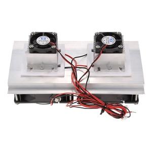 Image 3 - Termoelektryczny peltier układ chłodzenia chłodzenia zestaw półprzewodnikowy chłodnica duży moduł chłodzenia zimnego przewodzenia podwójne wentylatory
