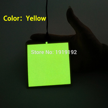 10PCS 6 Colors 10X10CM el sheet el panel for house,holiday,dispaly,car,party,festival and model decoration without driver