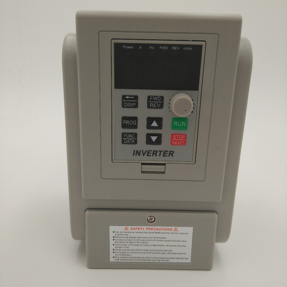 VFD single phase 220V in and single phase out ZW-AT2 frequency converter 750W 0.75KW 5A/1.5kw 8A Drive single phase moto speed 5pcs lot intersil isl9440irz isl9440 qfn triple 180 out of phase step down pwm and single linear controller