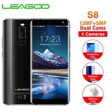 LEAGOO S8 5,72 полноэкранный мобильный телефон Android 7,0 MTK6750T Восьмиядерный 3 ГБ+ 32 Гб 13 МП 4 камеры отпечаток пальца ID 4G смартфон
