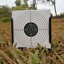 "Square pellet trap holds 20 sheets of 5.5 ""x 5.5"" paper suitable for pellet gun plinking."