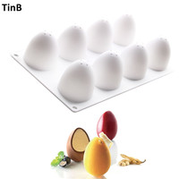3D Easter Eggs Silicone Molds Cake Decorating Tools Bakeware French Dessert Mousse Cake Mold Baking Cupcake