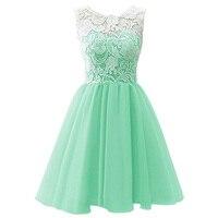 Retail Lace Mesh Heart Neck Girls Evening Party Dress Causal Dress Sleeves Knee Length Chiffon Girls