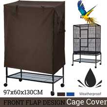 sunshade Bird Cage Cover Seed Catcher Parrot Aviary Universal dustproof Guard Bag Shell Skirt Cover Breathable Bird Supplies(China)
