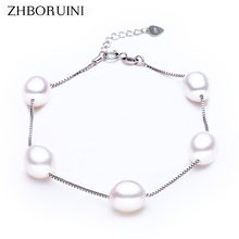 ZHBORUINI Charm Bracelet Pearl Jewelry Natural Freshwater Pearl High Quality 925 Sterling Silver Pearl Bracelets For Women Gift(China)