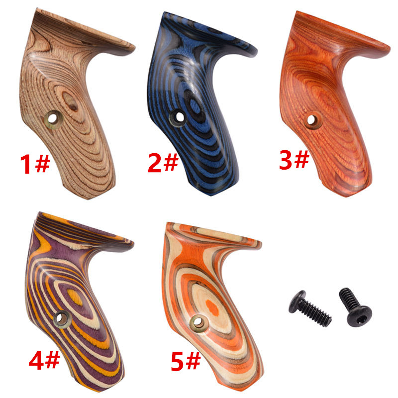 5 Color Wood Wooden Grips For 17