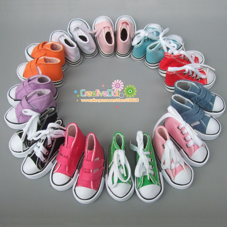 7.5cm Canvas Shoes For BJD Doll Toy 1/4 Mini Doll sneakers Shoes for 16 Inch Sharon doll Boots 5cm pu leather doll princess shoes for bjd dolls lace canvas mini toy shoes1 6 bjd snickers for russian doll accessories