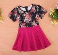 Niñas vestidos de Flores 2017 Del Verano Del Bebé Niños Ropa Niños Lindos estilo Europeo vestido de Partido de la princesa Vestido de Tirantes de Verano 2-9Y 38