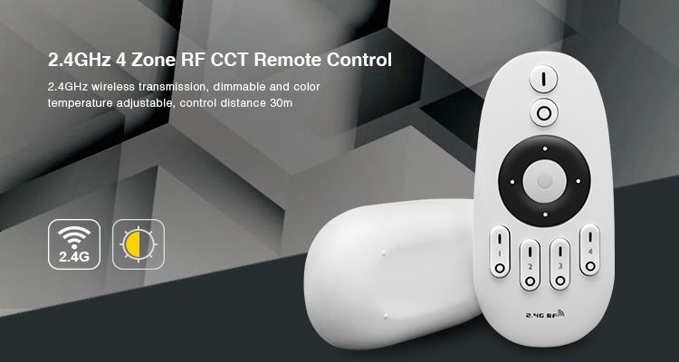 2.4Ghz MiLight Dual White CCT Remote Control for Dual White CCT LED lighting