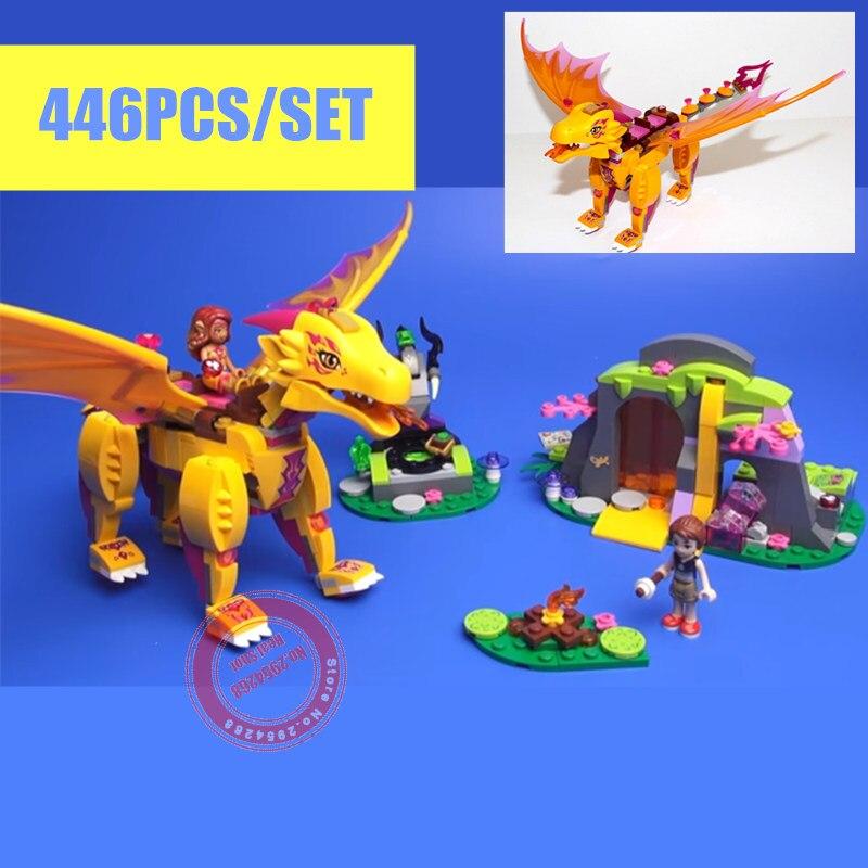 Nya Azari Magical Bakery Fire Dragon Fit Legoings Fairy Elver figurer Vänner Byggstenar Tegelstenar Flickor Prinsessan gåva barn set