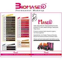 Biomaser 25color Permanent Makeup Micro Pigment Cosmetic Encre Tatouage Tattoo Ink Permanent Eyebrow Eyeliner Lip