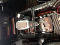 Left hand drive For Toyota 4Runner 2010 2019 Anti Slip Gate slot Mat Cup Holders Non slip Mats Accessories Car sticker 24pcs
