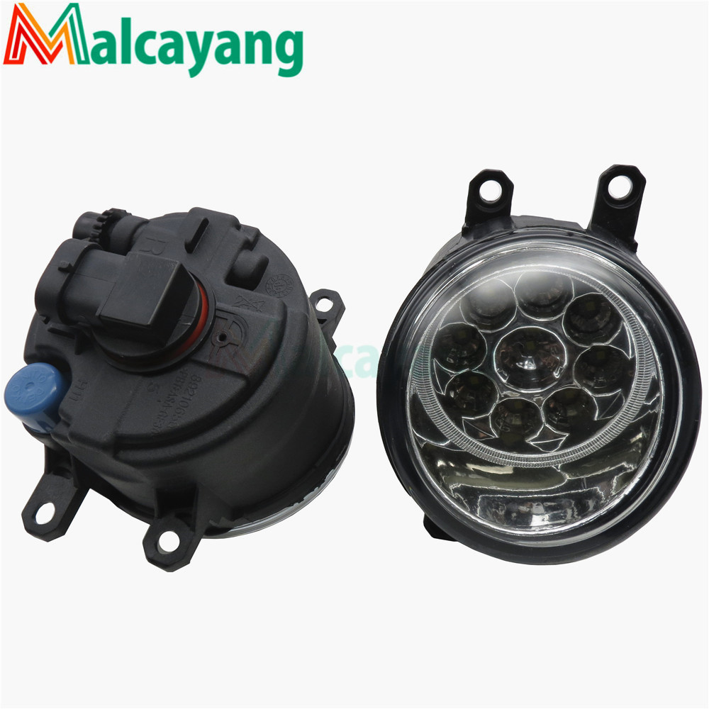 Car Styling 81210-06052 LED Fog Lamps Refit Left + right For Toyota Camry Corolla Yaris Lexus GS350 GS450h LX570 HS250h IS-F car front bumper fog lamp lights for toyota yaris camry avensis rav4 corolla highlander matrix prius for lexus rx270 lx570