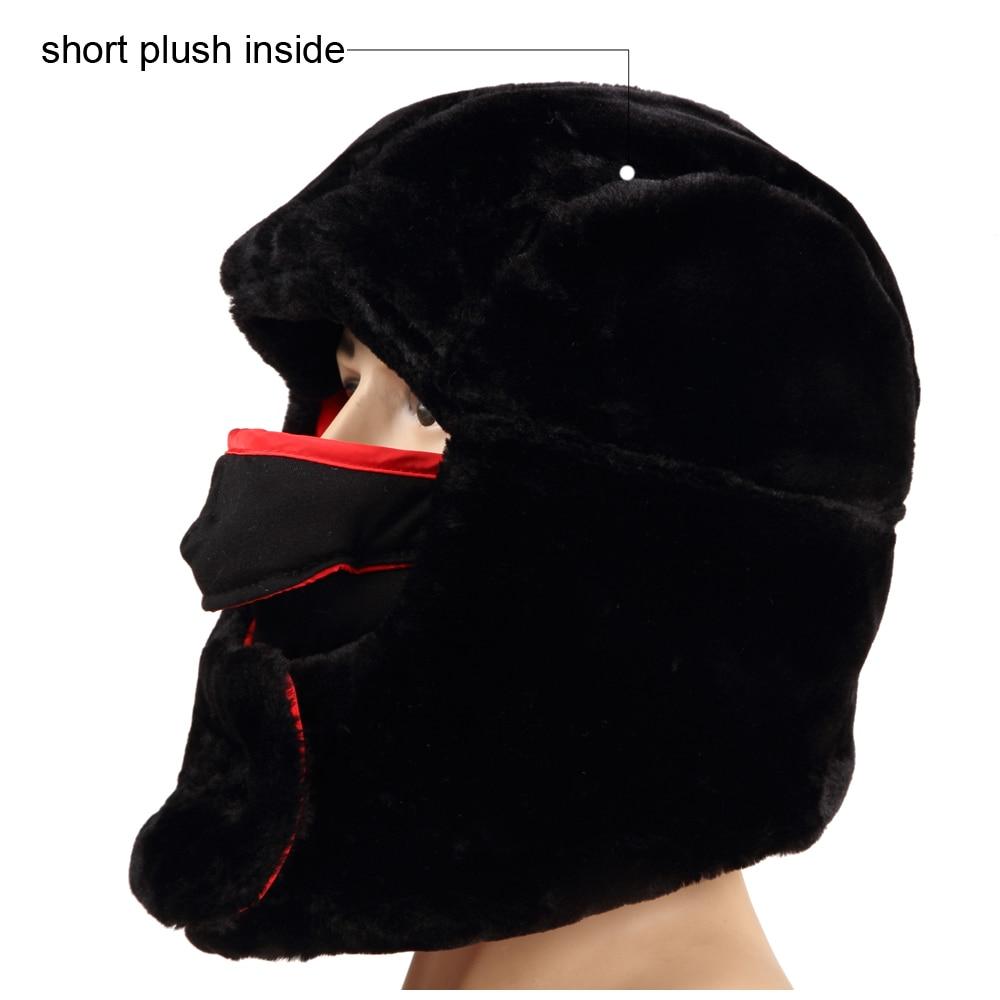 Aliexpress.com   Buy Unisex Soviet Army Russia Ushanka Winter Hiking  Hunting Outdoor Bomber Hats Thicken Balaclava Plush Earflap Thermal Skull  Mask from ... 38b7cfd61500