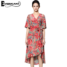 Everkaki Gypsy Collective Lotus Gown Boho Style Long Dress V Neck High Waist Short Sleeve Print Dresses Spell Design and gypsy