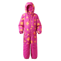 Moomin Moomintroll star girls winter overall muumi winter children overall waterproof zipper pink blue snow jumpsuit outdoor