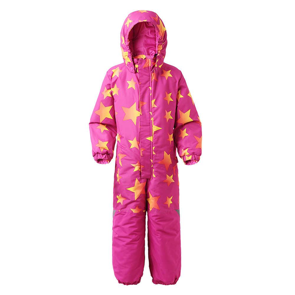 Moomin Moomintroll estrella niñas invierno general muumi invierno niños general impermeable cremallera rosa azul nieve mono al aire libre