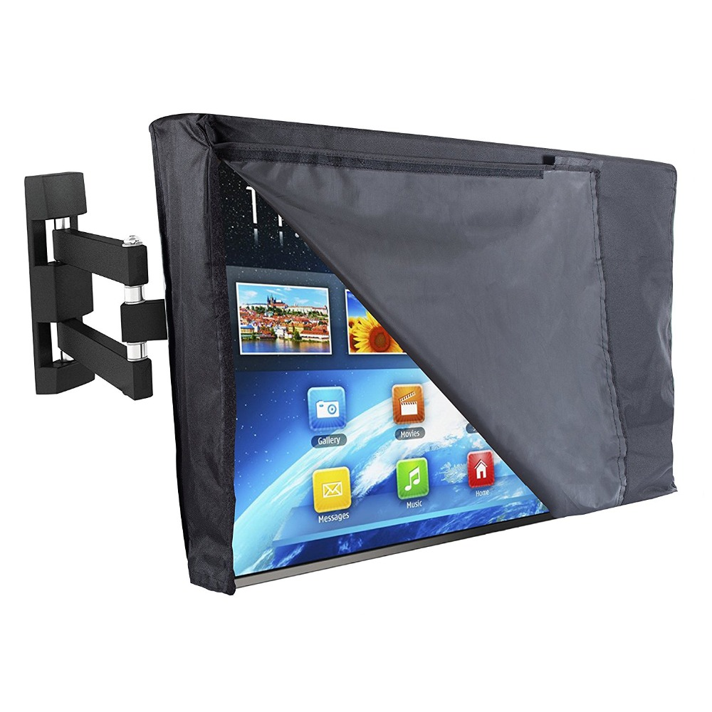 Outdoor TV Cover WITH FRONT FLAP and Bottom Cover The BEST Weatherproof Dustproof Material Protect LCD Television Patio TV Cover otomatik çadır