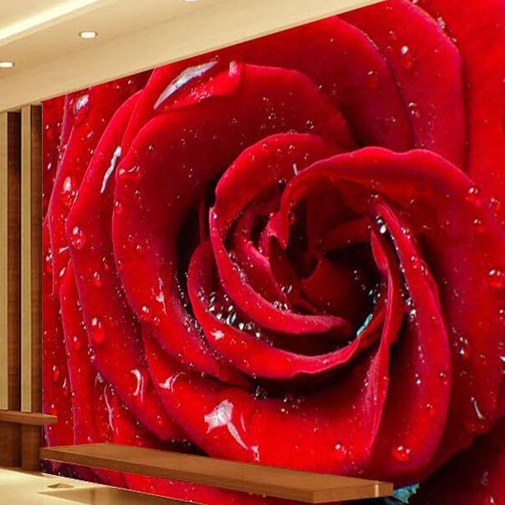 Aliexpress.com : Buy Romatic Red Rose Flower Murals Photo