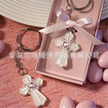 2016 New Fashion Crystal Cross keyring for women Cross Keychain Key Chains Girls Lover wedding party Gift Box Key Holder Charm