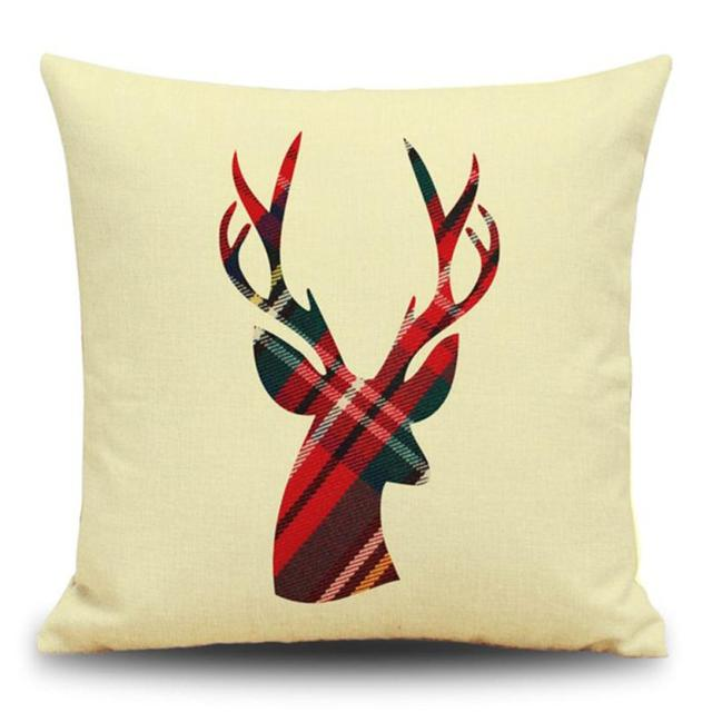 Ouneed Nordic Christmas Pillow Cushion Cover Christmas Festival Inspiration Outdoor Christmas Pillow Covers