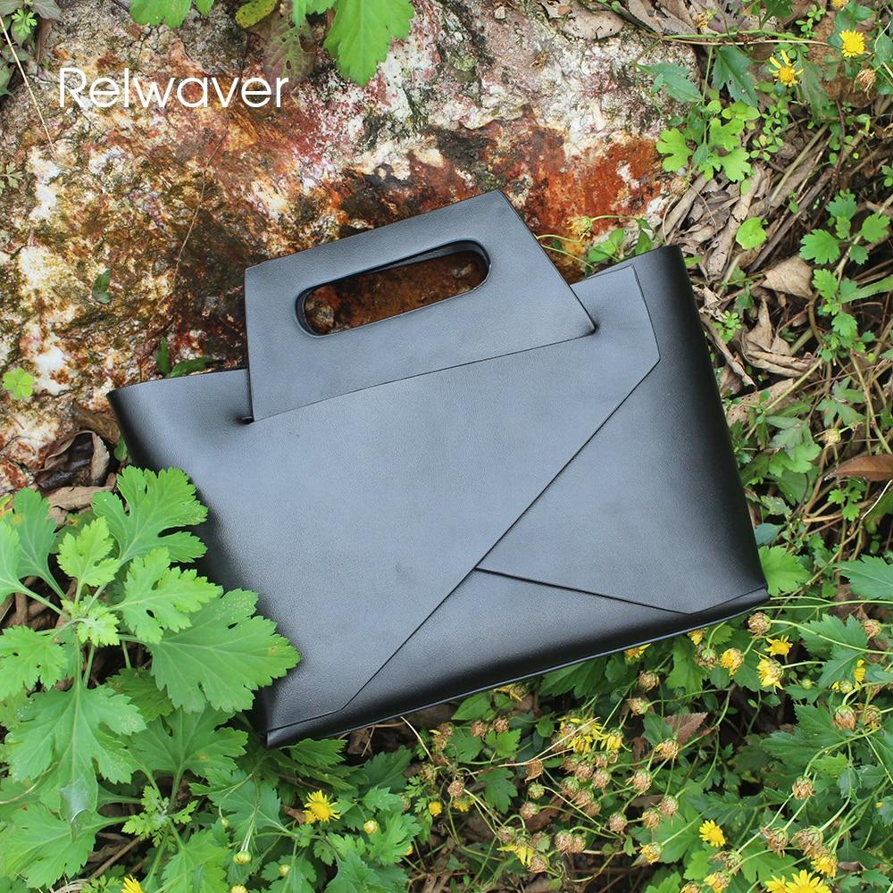 Relwaver Minimalist Handtaschen Rindsleder Black Weiß Berühmte Frauen Umhängetaschen Stilvolle Schwarz Kleine Marken Schulter white Tasche rtZrEwqz