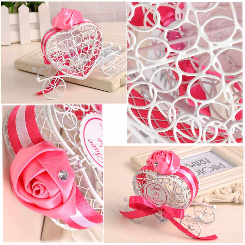 Горячая 1 шт. новые коробки для конфет романтическая карета сладости, шоколад коробка Свадебные сувениры милый набор контейнеров для хранения высокого качества