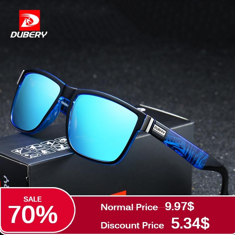 DUBERY Brand Design Polarized Sunglasses Men Driver Shades Male Vintage Sun Glasses For Men Spuare Mirror Summer UV400 Oculos стоимость