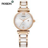 Rosdn бренд High End Часы Для женщин Повседневные часы Роскошные Керамика ремешок сапфир дамы наручные часы для Для женщин 50 м Водонепроницаемый
