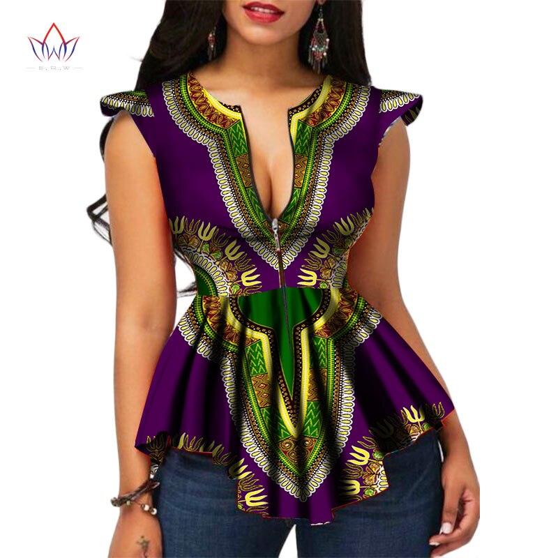 2017 БРВ Африка Стиль Для женщин современной моды Для женщин s Топы Дашики Африканский принт футболка плюс Размеры M-6XL женская одежда WY2556
