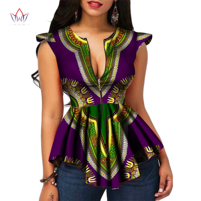 d9a8b90fba5 2017 BRW Africa Style Women Modern Fashions Womens Tops Dashiki African  Print Tops Shirt Plus Size M-6XL Women Clothing WY2556