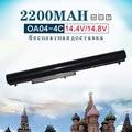 Batería del ordenador portátil para hp para compaq oa03 oa04 tpn-f112 tpn-q129 tpn-q131 TPN-Q130 TPN-Q132 Para El Pabellón 14 15 240 250 255 340 355