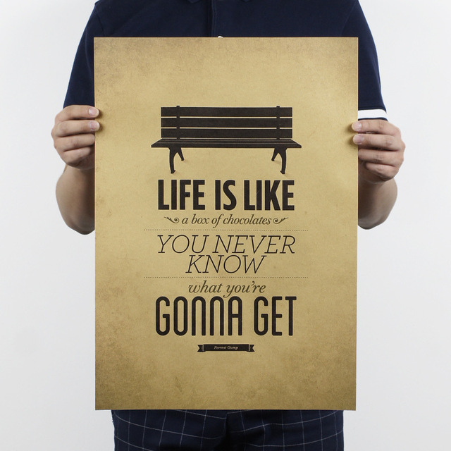 life is like a box of chocolates poster Retro Wall Art Sticker ...