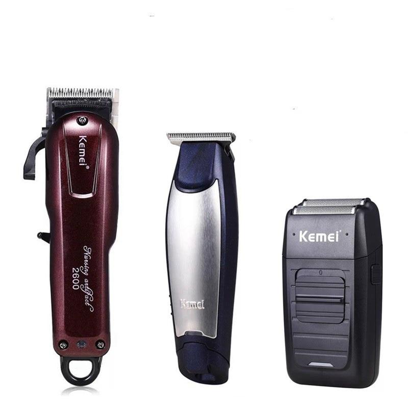 Kemei Cheveux Professionnel Tondeuse Électrique Sans Fil Hommes Cheveux Barbe Tondeuse Barber Coupe de Cheveux Machine Styling Outils pour Pommade Cheveux