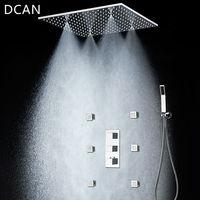 Dcan 20 ''Ванная комната Душ Интимные аксессуары Контроль температуры площади туман душ Наборы для ухода за кожей потолок и ручной душ и 2 дюймо