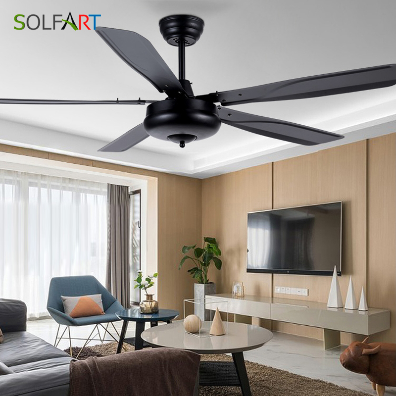 Variable Frequency Ceiling Fan Lights Simple Fashion 42 56 inch Restaurant living room Remote Control Mute Ceiling fan lights|Ceiling Fans| |  - title=
