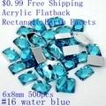 Acrylic Rhinestones Rectangle Shape Earth Facets $0.99 6x8mm 50pcs Flatback Glue On Beads DIY Crafts Wedding Clothes Decorations