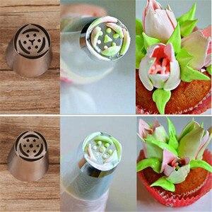Image 5 - 90 estilos en acero inoxidable tuberías rusas crema repostería boquillas de hielo puntas para hornear pasteles decoración herramientas para hornear para panadería