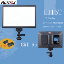 Viltrox L116T LCD Display Bi-Color LED Light Installation On Camera Dimmable Slim DSLR Video Fill Light Battery&Charger