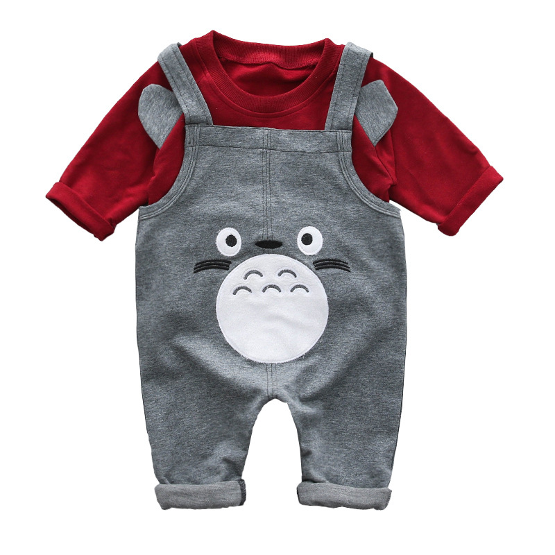 Newborn Baby boys clothes set Long sleeves T sleeve+pant 2pcs Leisure Cartoon baby Clothes Set 0-24month boys Outfit
