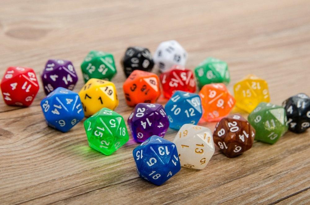 Mazmorras y dragones, mesa de juego de World of Warcraft dados de 20 caras, dados de 20 caras, juego de dados D20
