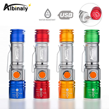 USB charging bicycle light 3 mode LED mini bike high quality zoom waterproof cycling accessories suit for night ride