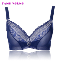 TANG YOUNG Sexy Ladies 3 4 Cup Push Up Bra Women 4colors Embroidery Bralette Deep V