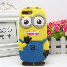 Для iphone 5 5s se 6 6s plus Case 3D Кремния Миньоны Дизайн Мультфильм Soft Phone Чехол для iphone 5 5S SE 6/7/7 Плюс
